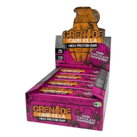 جرينيد، بروتين بار شوكولاتة داكنة ورازبيري 60غ - 12 قطعة