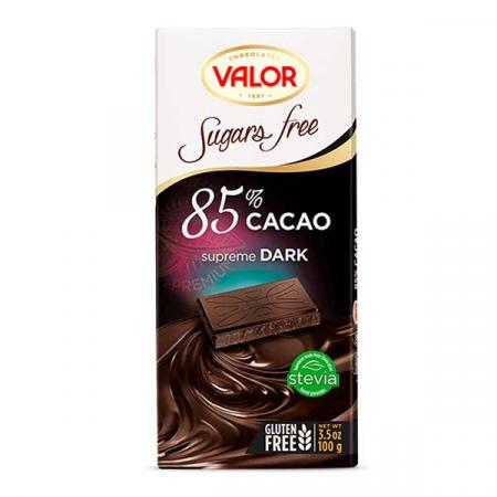 ڤالور، شوكولاتة داكنة 85٪ بدون سكّر وجلوتين 100غ