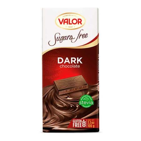 ڤالور، شوكولاتة داكنة بدون سكّر وجلوتين 100غ
