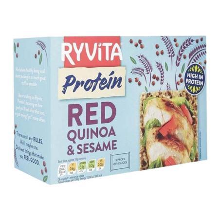رايڤيتا، رقائق عالية البروتين بالكينوا الحمراء والسمسم 200غ