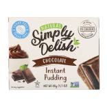 سمبلي ديليش، حلوى البودينغ الطبيعية، شوكولاتة، خالي من السكر 48غ