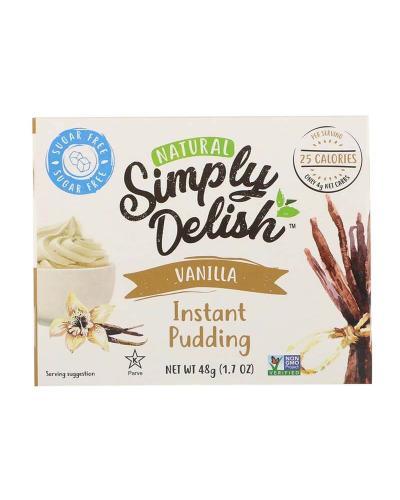سمبلي ديليش، حلوى البودينغ الطبيعية، فانيلا، خالي من السكر 48غ