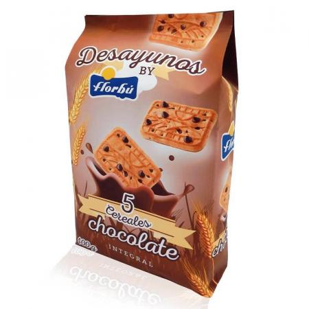 فلوربو، بسكويت من خمسة حبوب بالشوكولاتة، كيس 400غ