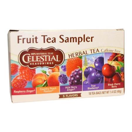 سيليستيال، شاي الأعشاب الطبيعي، حزمة الفواكه، 18 كيس 40غ