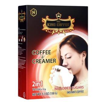 كنغ كوفي، قهوة سريعة التحضير مع مُبيّض 15 كيس