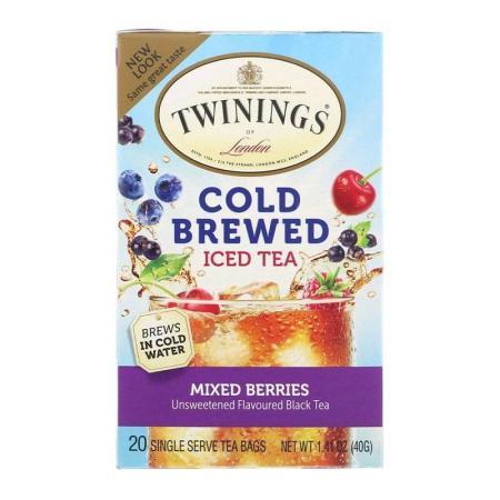 توايننغز، شاي أسود لتحضير الشاي المثلج، توت مشكّل 20 كيس 40غ