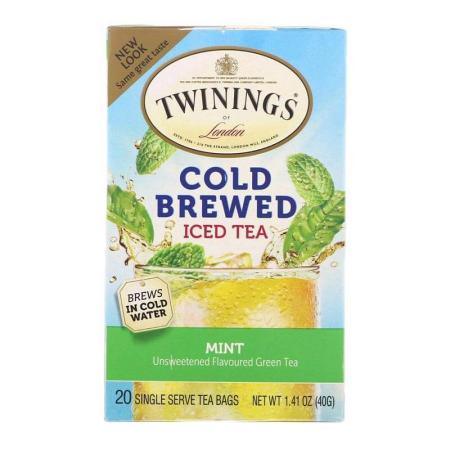 توايننغز، شاي أخضر لتحضير الشاي المثلج، نعنع 20 كيس 40غ