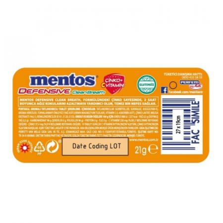 منتوس منعش بطعم البرتقال - بدون سكّر 21غ
