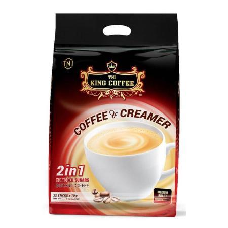 كنغ كوفي، قهوة سريعة التحضير مع مُبيّض 24 كيس
