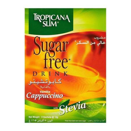 تروبيكانا سلم، مشروب كابوتشينو بالفانيلا خالي من السكر 8 أكياس