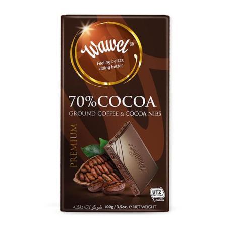 واول، شوكولاتة داكنة 70٪ مع القهوة 100غ