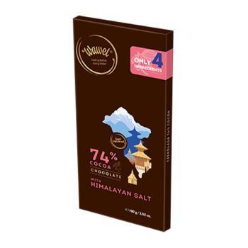 واول، شوكولاتة داكنة 74٪ مع ملح الهيملايا 100غ