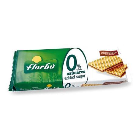 فلوربو، ويفر بطعم الشوكولاتة بدون سكر مضاف 160غ