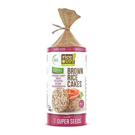 رايس أب، أقراص الأرز البني مع خليط الحبوب السبعة 120غ