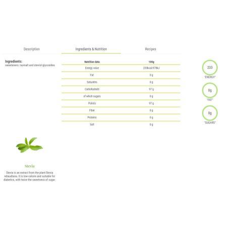 فيتاليا، مُحلّي ستيفيا منخفض السعرات الحراريّة 250غ