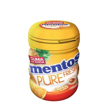 منتوس، علكة خالية من السكر بطعم الفاكهة الاستوائية 60غ