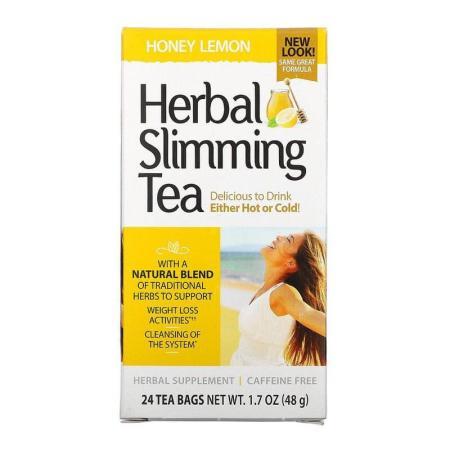 شاي الأعشاب للتخسيس بالعسل والليمون 24 كيس 48 جم