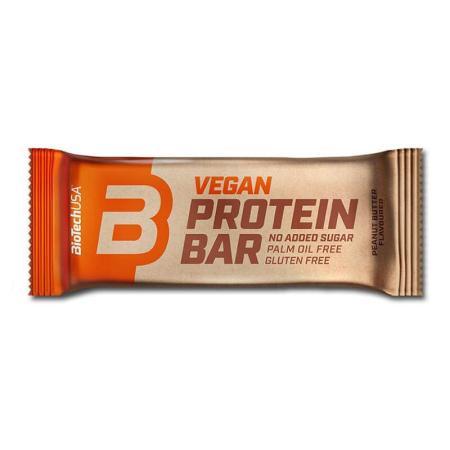 BioTechUSA، بروتين بار نباتي بطعم زبدة الفستق 50غ