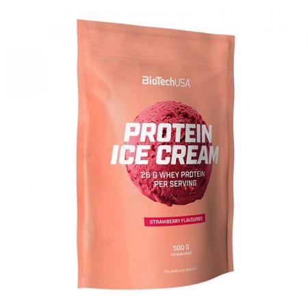 BioTechUSA خليط لتحضير البوظة عالية البروتين بنكهة الفراولة 500غ