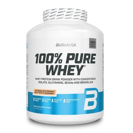 BioTechUSA مسحوق بروتين مصل اللبن ايزو بنكهة الشوكولاتة وزبدة الفستق 2.27كغ