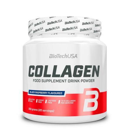 BioTechUSA مسحوق الكولاجين بنكهة التوت الأسود 300غ
