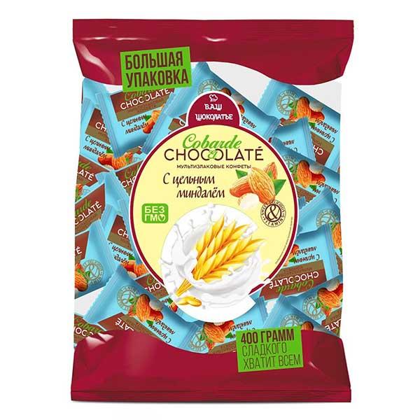 كو بار، حلوى متعددة الحبوب مع اللوز 200غ